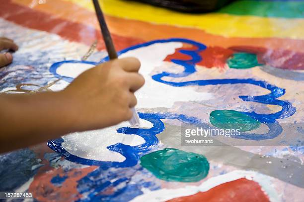 young artist - peace symbol stock photos and pictures