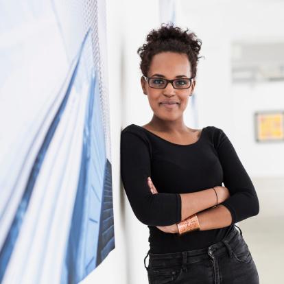 Young Artist Portrait In Gallery - gettyimageskorea
