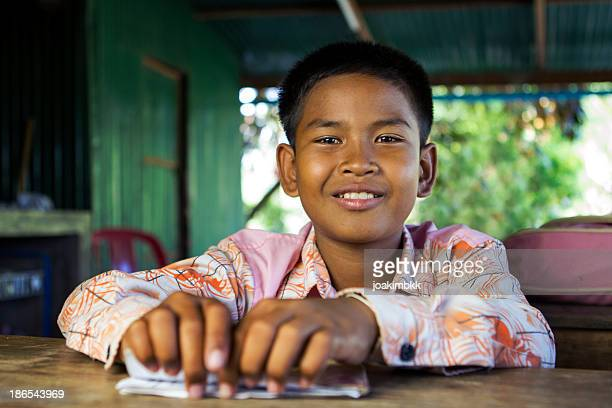Young Asian boy at school