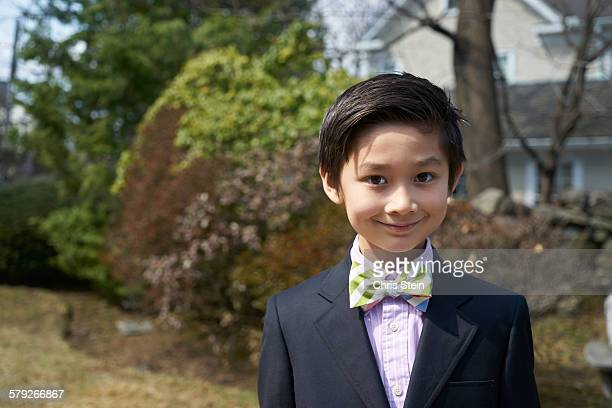 Young Asian Boy in his Easter Suit