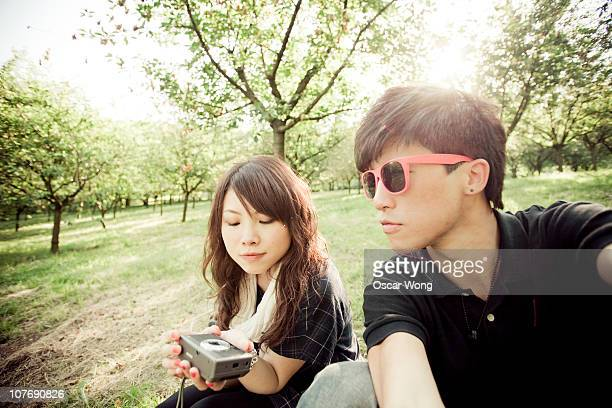 A young asian couple