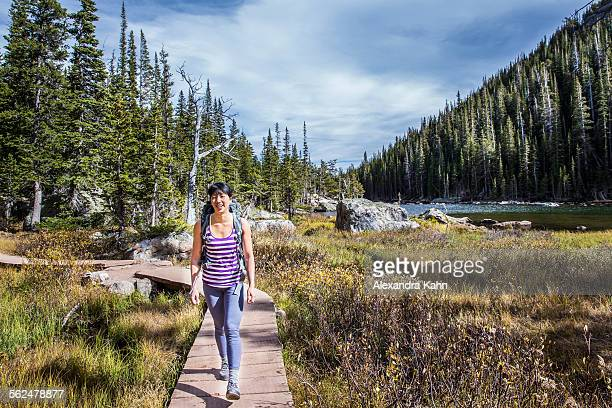 Young Asian Female Hiker in Rocky Mountain National Park