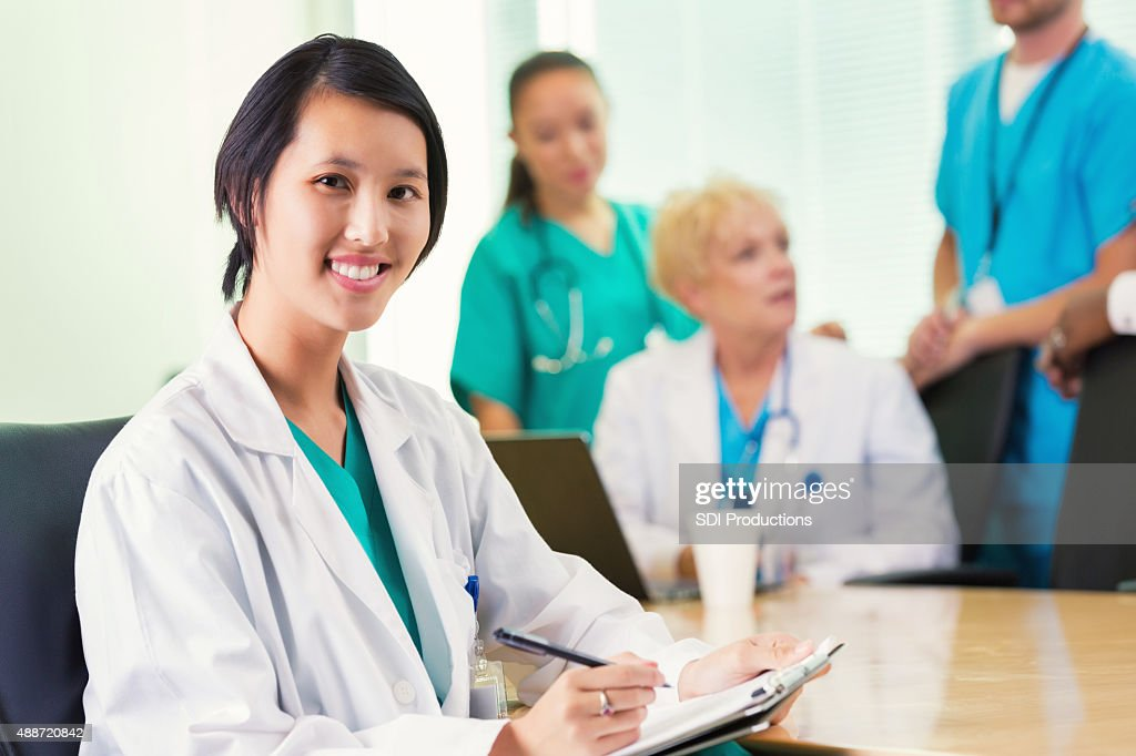 Asian nurse doctor hospital
