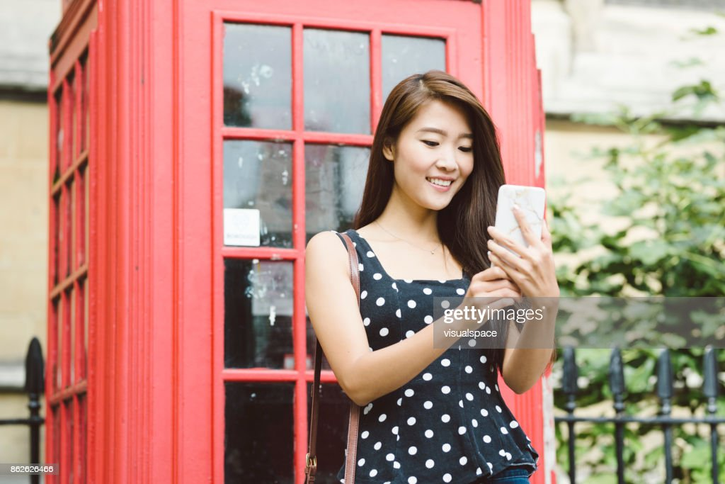 Asian phone booth