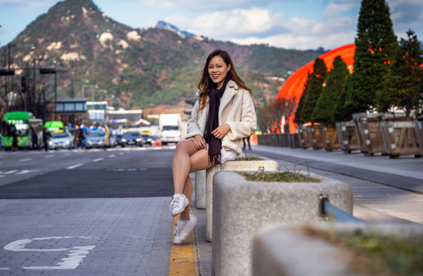 Young Asian  woman in the streets