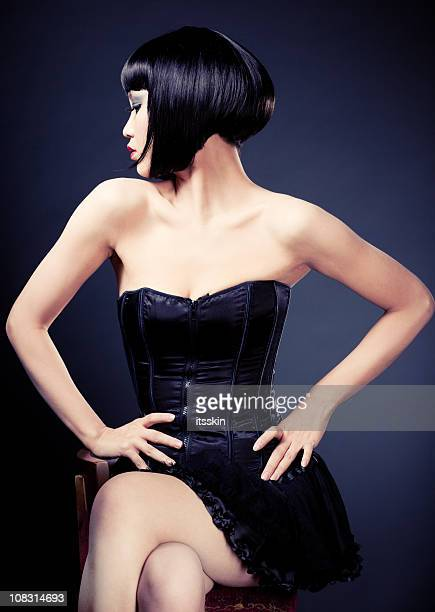 Young asian woman posing