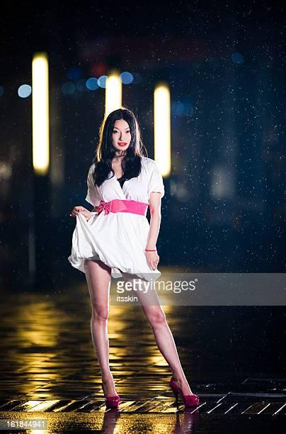 Young asian woman posing