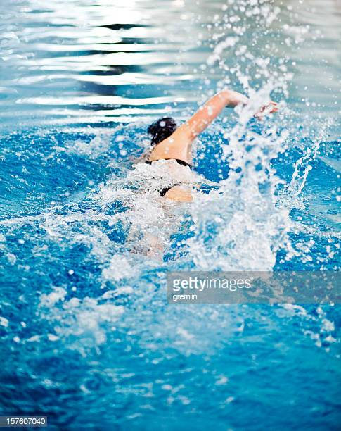 Young athlete swimming