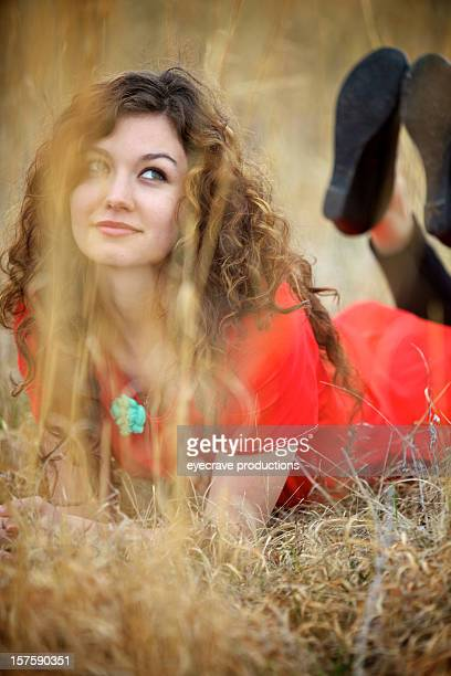 young attractive adult woman outdoors