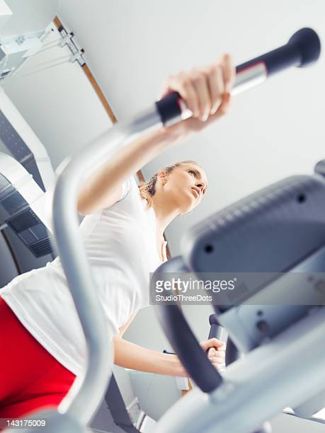 young attractive woman exercising