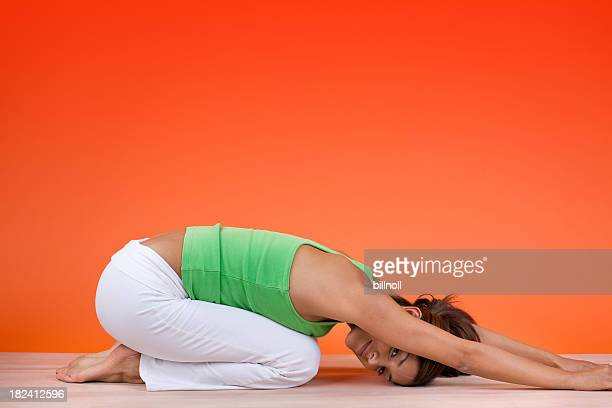 Young attractive woman stretching