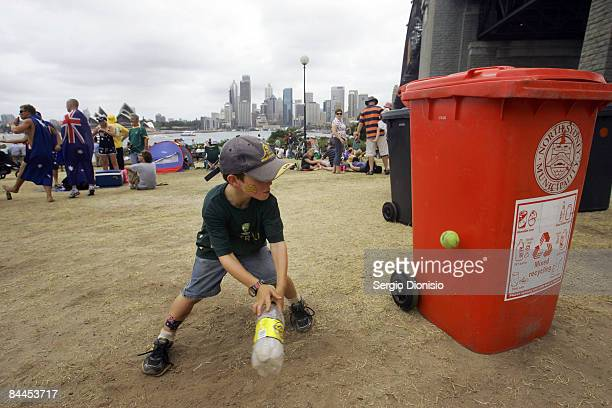 Young Australian children play backyard crickets as part of Sydney's Australia day celebrations on January 26 2009 in Sydney Australia Australia Day...
