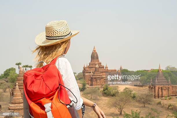 Young backpack traveler in southeast Asia