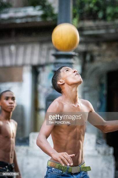 Young ball header Paseo del Museo Havana