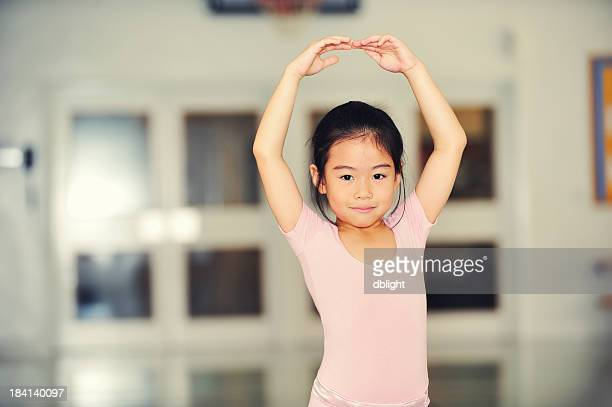 young ballerina in practice