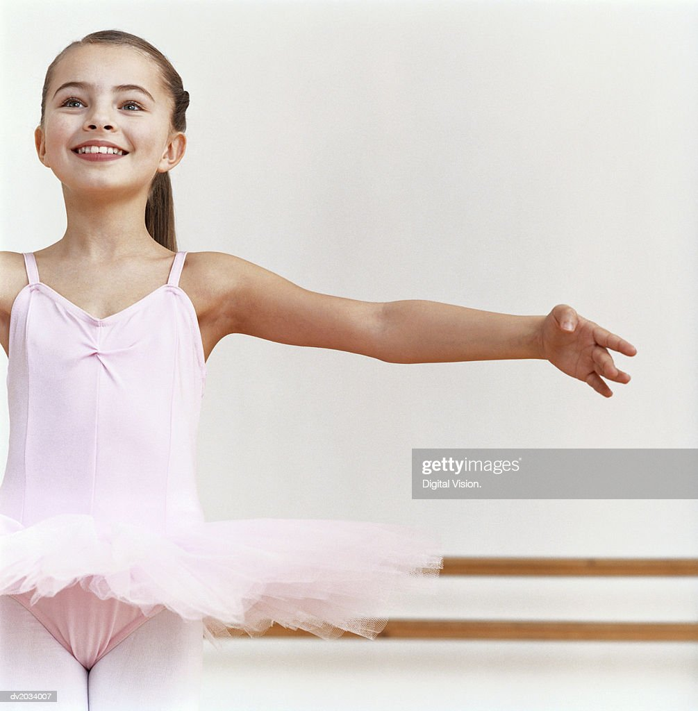 Young Ballet Dancer Practicing in a Dance Studio : Stock Photo