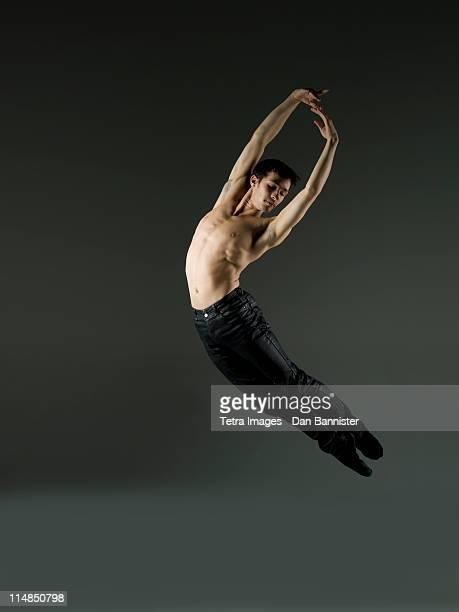 Young ballet dancer, studio shot