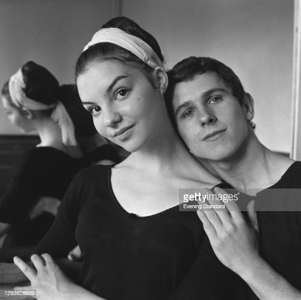Young ballet dancers Georgina Sibley and Wayne Sleep at the Royal Ballet School in London, UK, 2nd July 1966.