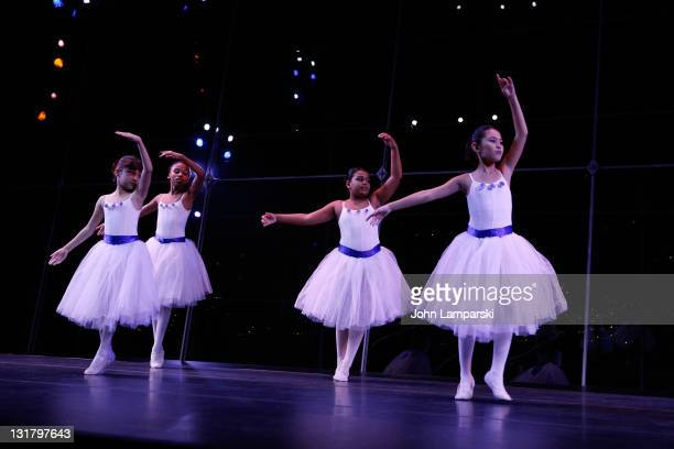 Young ballet dancers perform during the YMCA of Greater New York's Arts & Letters auction and reception at the Frederick P. Rose Hall, Jazz at...