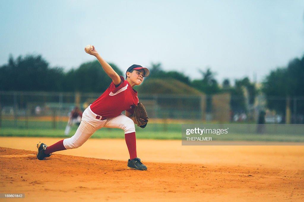 young baseball league pitcher : Stockfoto