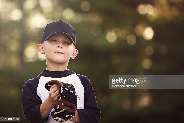 Young baseball player with glove