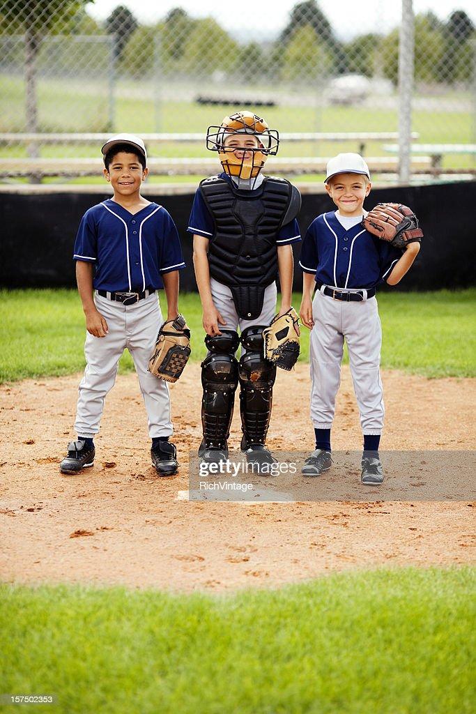 Young Baseball Players : Stock Photo