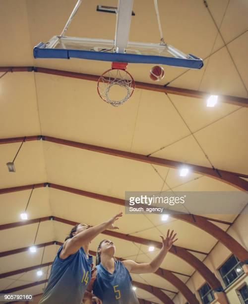 Young basketball players