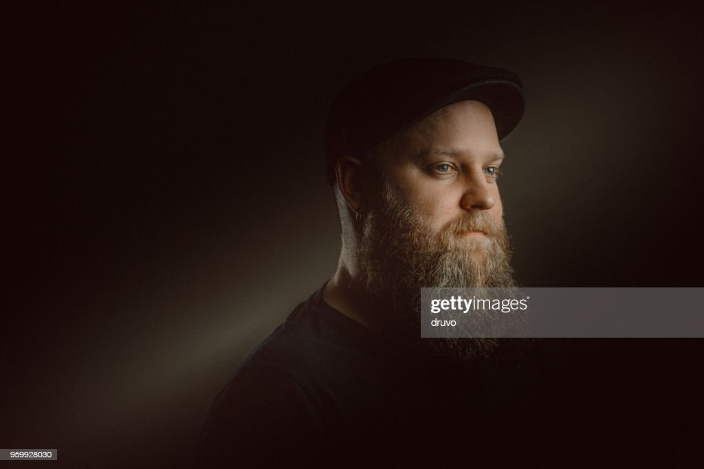 Young bearded man portrait : Stock Photo