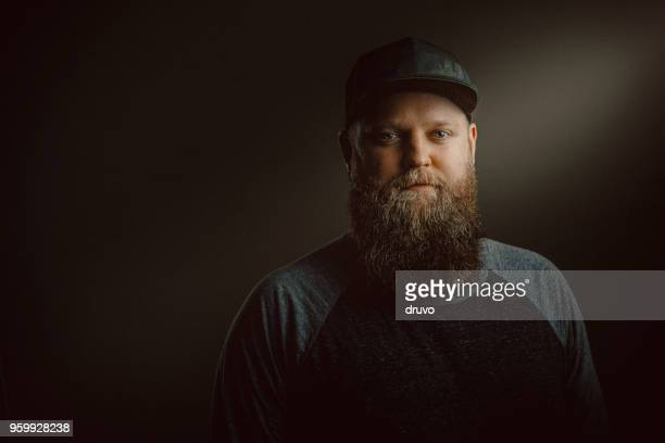 Young bearded man portrait