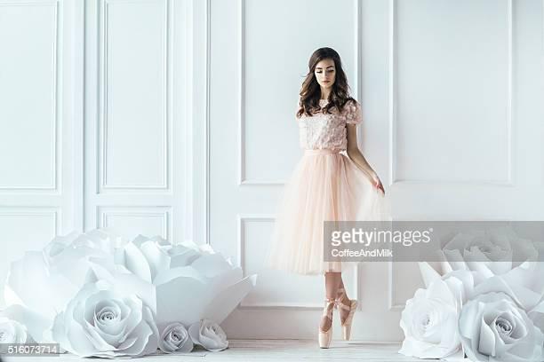 young beautiful ballerina - ballerina stock photos and pictures
