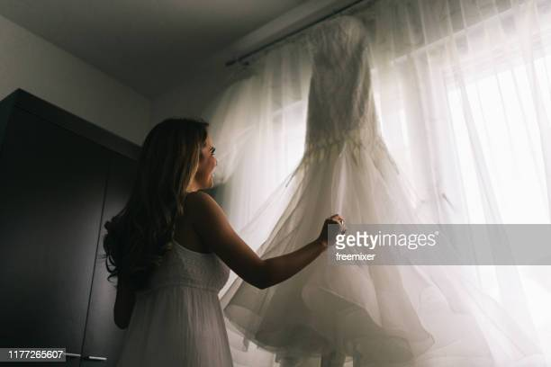 Young beautiful bride, preparation on wedding day