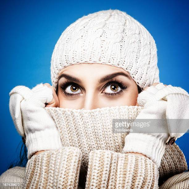 young beautiful girl - big eyes stock photos and pictures