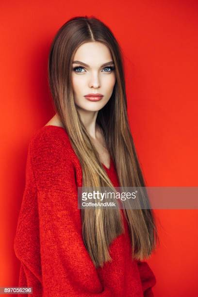 young beautiful model with long straight hair - women flashing stock photos and pictures