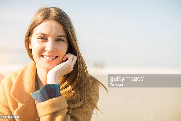 Young beautiful spanish woman smiling at camera.