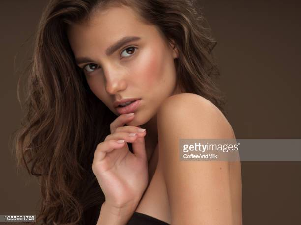 young beautiful woman - natural beauty people stock pictures, royalty-free photos & images