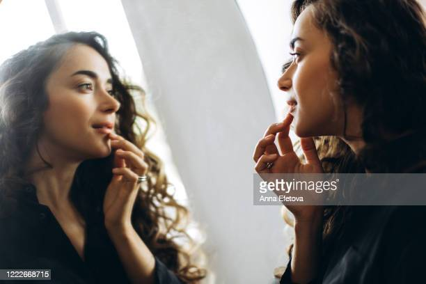 young beautiful woman - see bildbanksfoton och bilder