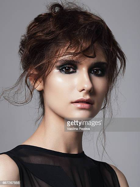 young beautiful woman - smokey eyeshadow stock pictures, royalty-free photos & images