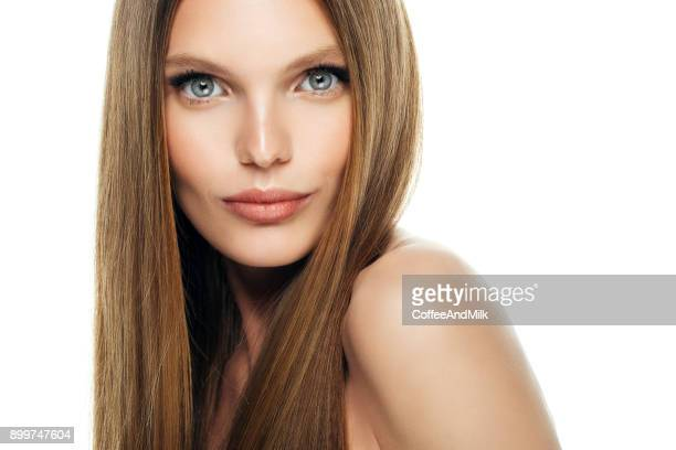 young beautiful woman - straight hair stock pictures, royalty-free photos & images