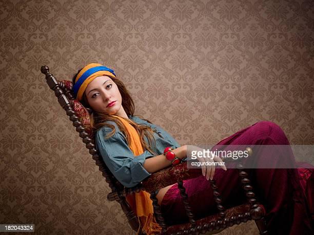 Junge schöne Frau Porträt