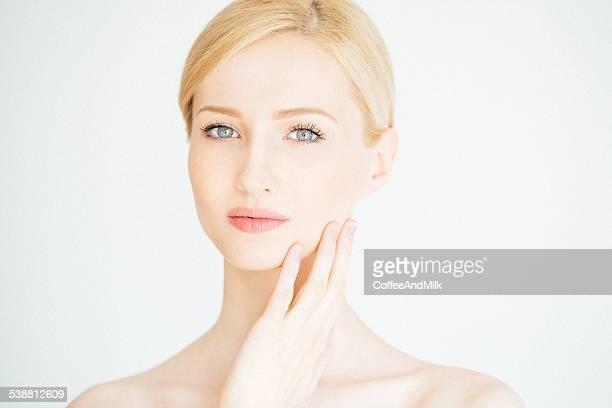 Young beautiful woman with natural makeup
