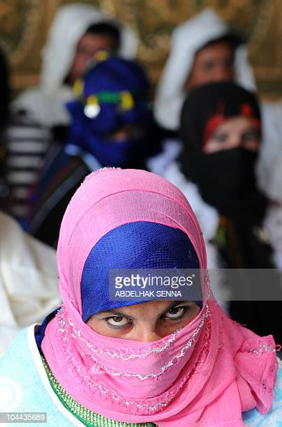 A young berber bride waits for her wedding ceremony in high Atlas Mountain the Berber village of Imilchil on September 23 2010 Once a year in...