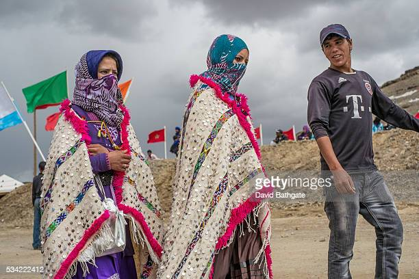 Young Berber men and women meet flirt and socialize during the Imilchil Morocco Marriage and Betrothal Festival