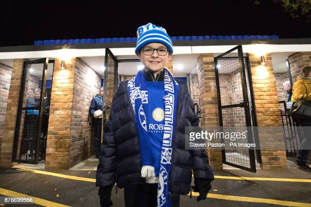 A young Bilericay Town fan ahead of the match