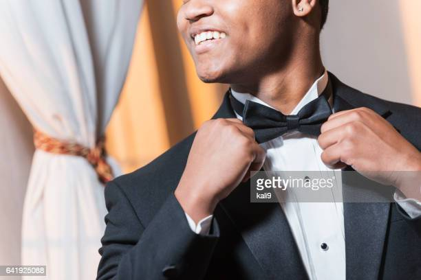 young black hispanic man wearing tuxedo - prom stock pictures, royalty-free photos & images