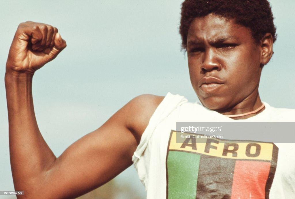 Young Black Man Flexing : News Photo