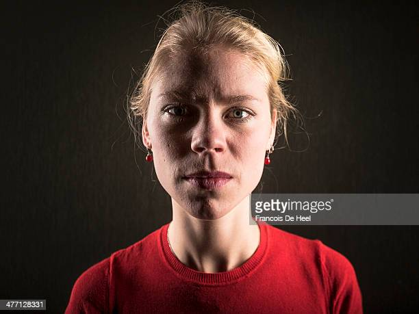 young blond woman - flandres oriental imagens e fotografias de stock