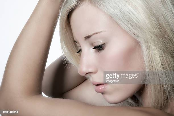 Young blonde woman, portrait