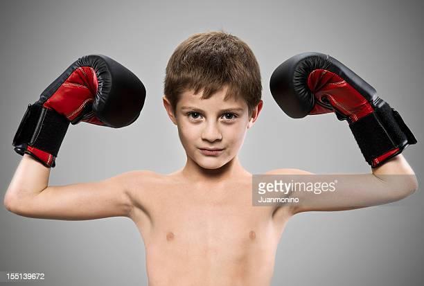 Joven boxeador (gente real