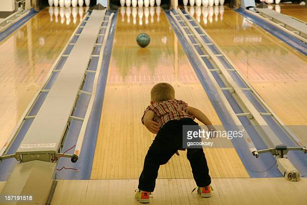 young boy bowling - individual event stock pictures, royalty-free photos & images