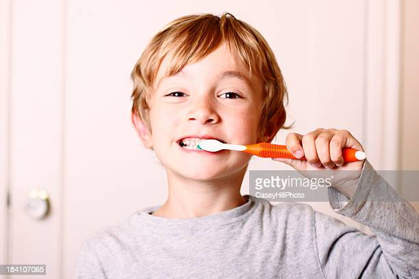 Young Boy Brushing